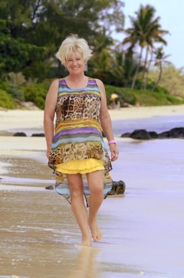 Charlotte on beach